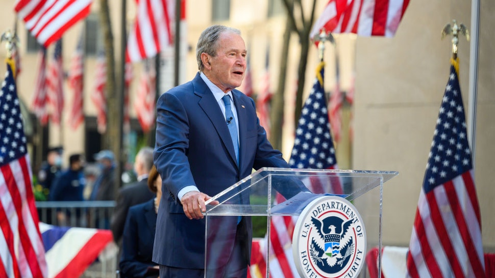 George W. Bush during the Naturalization Ceremony on Tuesday, April 20, 2021