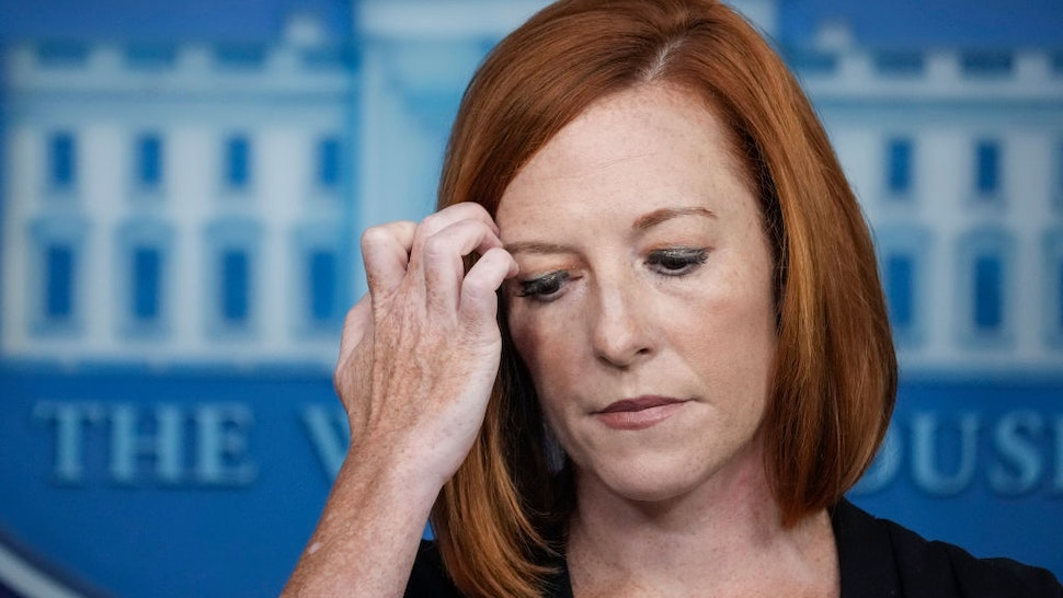 White House Press Secretary Jen Psaki speaks to reporters during the daily press briefing at the White House on August 27, 2021 in Washington, DC.