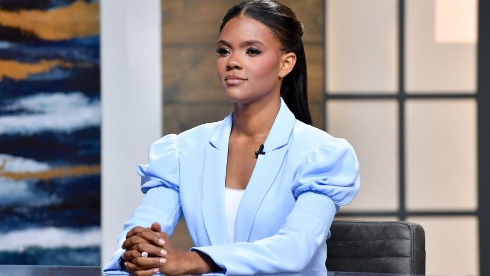 """Candace Owens is seen on the set of """"Candace"""" on July 19, 2021 in Nashville, Tennessee."""