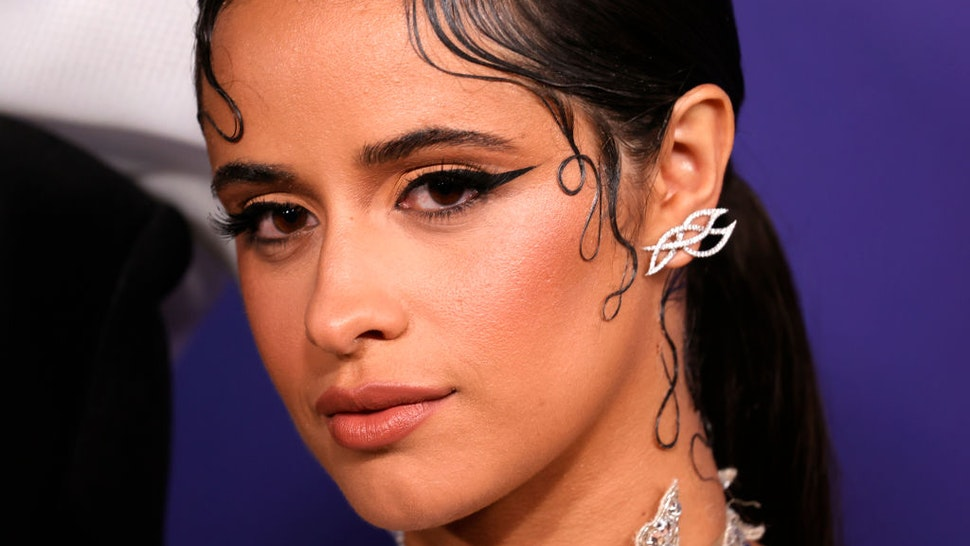 """Camila Cabello attends the Los Angeles Premiere of Amazon Studios' """"Cinderella""""at The Greek Theatre on August 30, 2021 in Los Angeles, California."""