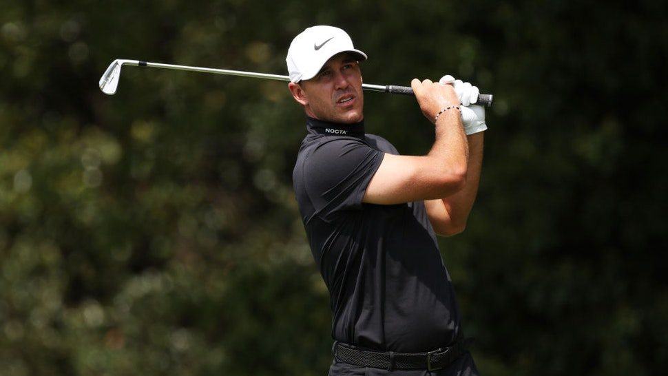 ATLANTA, GEORGIA - SEPTEMBER 02: Brooks Koepka of the United States plays his shot from the second tee during the first round of the TOUR Championship at East Lake Golf Club on September 02, 2021 in Atlanta, Georgia. (Photo by Kevin C. Cox/Getty Images)