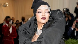 Rihanna attends The 2021 Met Gala Celebrating In America: A Lexicon Of Fashion at Metropolitan Museum of Art on September 13, 2021 in New York City.