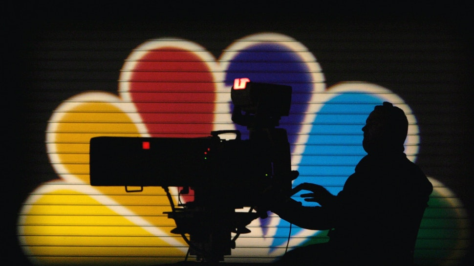 DES MOINES, IA - NOVEMBER 24: An MSNBC camera operator tapes the Democratic Presidential Candidates Debate at the Polk County Convention Complex November 24, 2003 in Des Moines, Iowa. Sponsored by MSNBC and moderated by NBC Nightly News anchor Tom Brokaw, the debate will feature all of the Democratic Presidential hopefuls with the exception of Sen. Joseph Lieberman (D-CT). Sen. John Edwards (D-NC) and Sen. John Kerry (D-MA) participated via satellite. (Photo by Shaun Heasley/Getty Images)