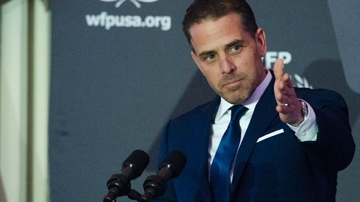 WASHINGTON, DC - APRIL 12: WFP USA Board Chair Hunter Biden speaks during the World Food Program USA's 2016 McGovern-Dole Leadership Award Ceremony at the Organization of American States on April 12, 2016 in Washington, DC. (Kris Connor/WireImage)
