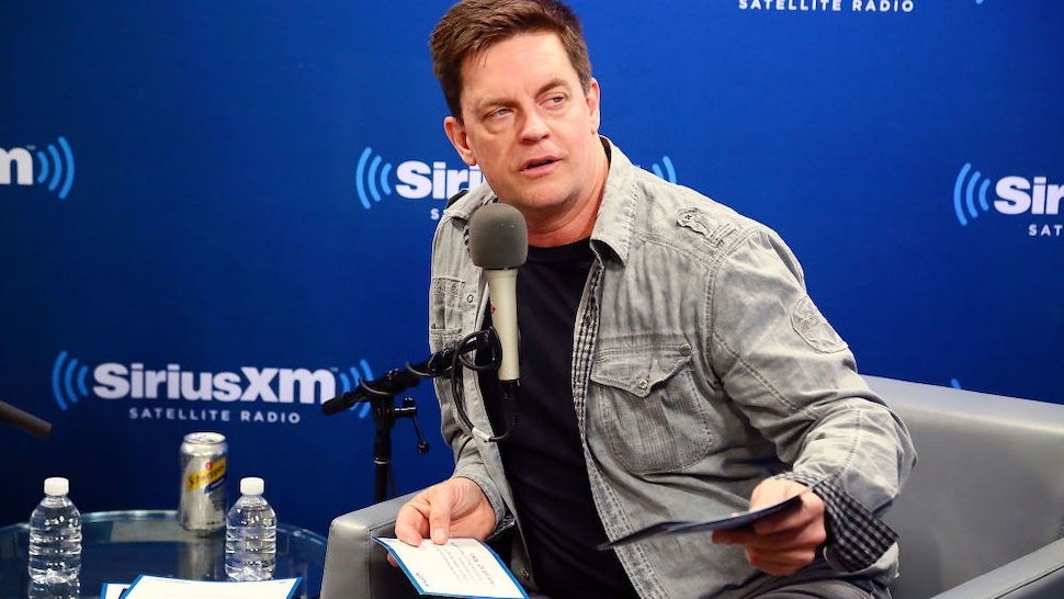"""Jim Breuer talks with Larry the Cable Guy about the new film 'Cars 3' with during a SiriusXM """"Town Hall"""" on June 16, 2017 in New York City."""