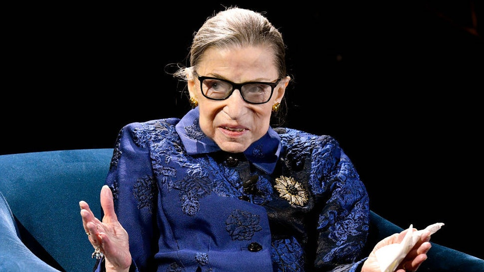 NEW YORK, NEW YORK - DECEMBER 16: Justice Ruth Bader Ginsburg speaks onstage at the Fourth Annual Berggruen Prize Gala celebrating 2019 Laureate Supreme Court Justice Ruth Bader Ginsburg In New York City on December 16, 2019 in New York City.