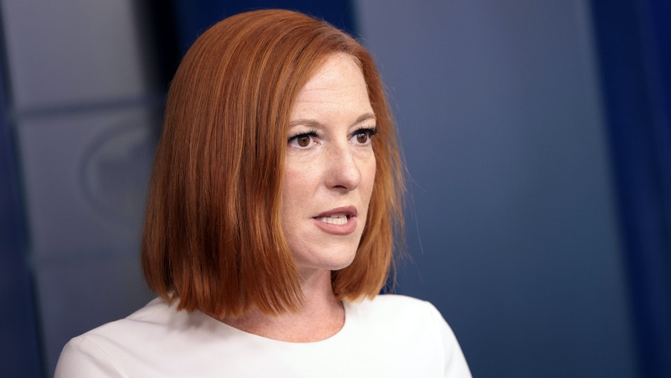 WASHINGTON, DC - SEPTEMBER 08: White House Press Secretary Jen Psaki speaks during a press briefing at the White House on September 08, 2021 in Washington, DC. Psaki spoke on the COVID-19 pandemic and the Texas abortion law.
