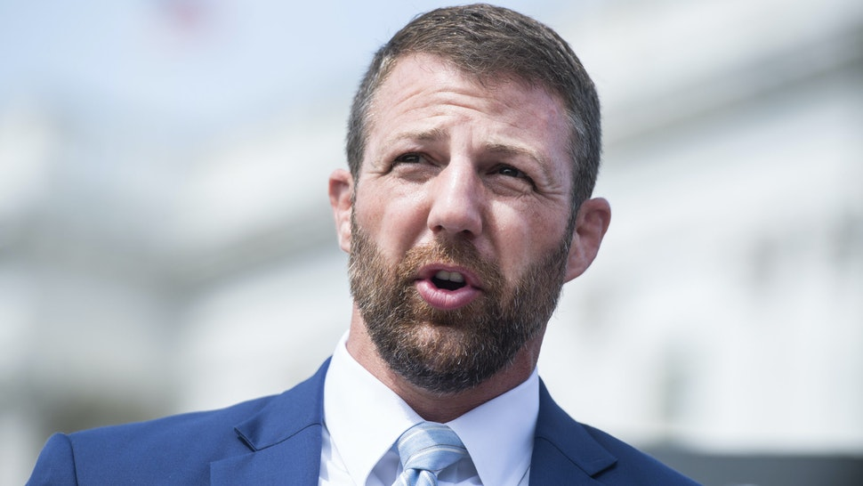 UNITED STATES - SEPTEMBER 15: Rep. Markwayne Mullin, R-Okla., speaks during a news conference outside the Capitol to announce the bipartisan I Am Vanessa Guillén Act, on Wednesday, September 16, 2020, named after Army Spc. Vanessa Guillén, who was murdered while stationed at Fort Hood in Texas. The bill calls for reform to the militarys response to missing servicemembers and reports of sexual harassment and sexual assault.