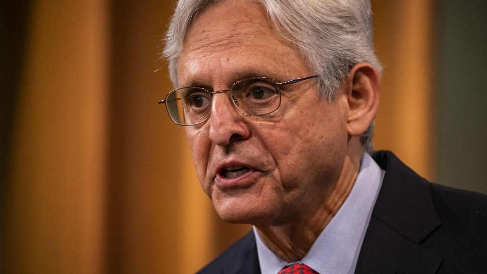 Merrick Garland, U.S. attorney general, speaks during a news conference at the Department of Justice in Washington, D.C., U.S., on Thursday, Aug. 5, 2021. The Justice Department has opened an investigation into the City of Phoenix and the Phoenix Police Department looking into types of use of force by Phoenix police department officers. Photographer: Samuel Corum/Bloomberg