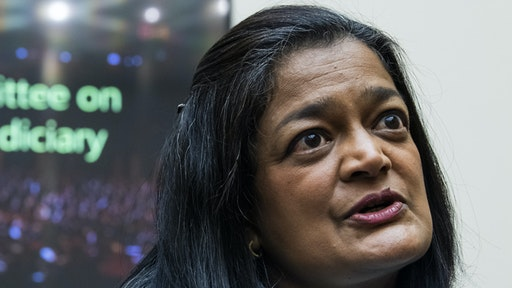 UNITED STATES - JUNE 30: Rep. Pramila Jayapal, D-Wash., is seen before the House Judiciary Committee hearing titled Secrecy Orders and Prosecuting Leaks: Potential Legislative Responses to Deter Prosecutorial Abuse of Power, in Rayburn Building on Wednesday, June 30, 2021.