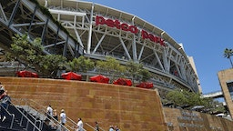 A general exterior view of the stadium as fans start to enter prior to the 2016 Major League Baseball All-Star Game at PETCO Park in San Diego, CA.
