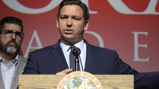 On Tuesday, September 14, 2021, Florida Gov. Ron DeSantis calls on lawmakers to revamp the state's school accountability system by eliminating several of the annual exams, and replacing them with more regular progress monitoring that already occurs throughout the school year. DeSantis spoke at Doral Academy Prepatory School with members of the Florida legislature, school officials and others at his side.