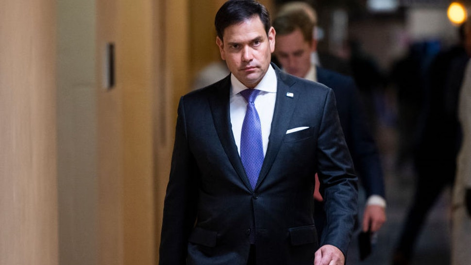 UNITED STATES - MAY 26: Sen. Marco Rubio, R-Fla., walks to the Senate subway after a vote in the U.S. Capitol on Wednesday, May 26, 2021.