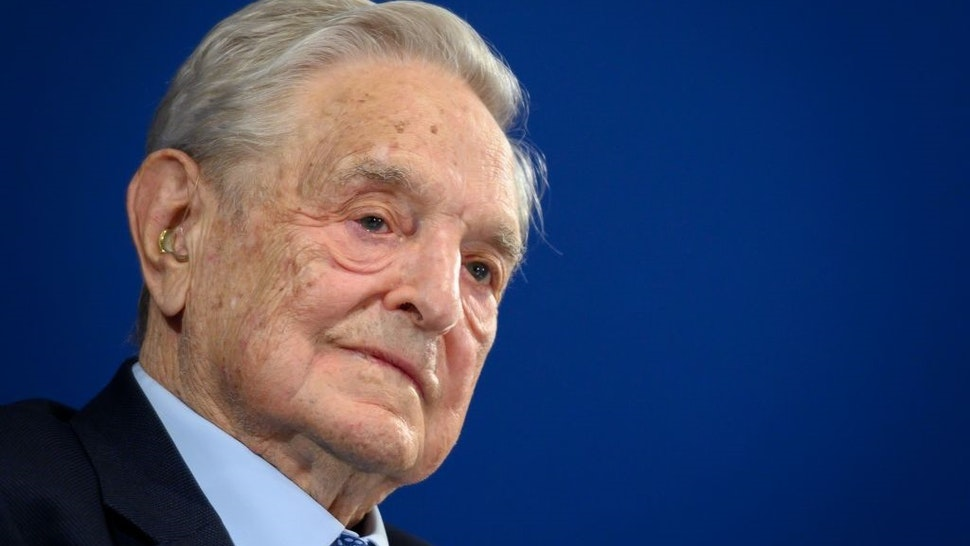 Hungarian-born US investor and philanthropist George Soros delivers a speech on the sideline of the World Economic Forum (WEF) annual meeting, on January 23, 2020 in Davos, eastern Switzerland.