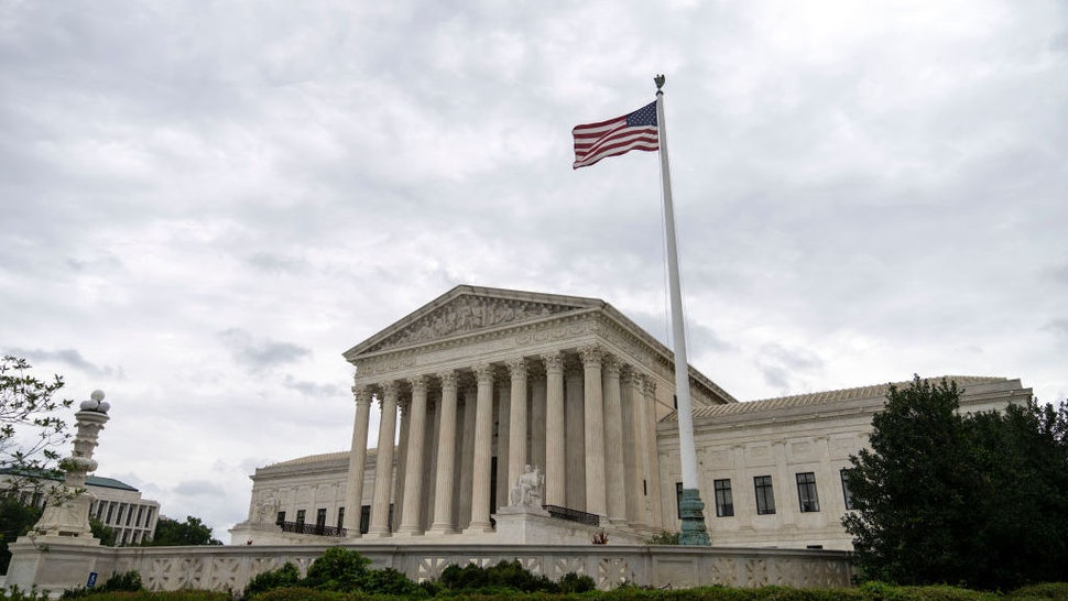 WASHINGTON, DC - SEPTEMBER 01: A view of the U.S. Supreme Court on September 1, 2021 in Washington, DC. A new Texas law that prohibits most abortions after six weeks of pregnancy went into effect on Wednesday. The U.S. Supreme Court did not act on a request to block the law. (Photo by Drew Angerer/Getty Images)