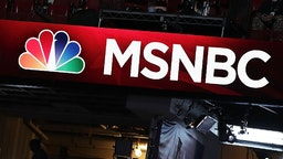 PHILADELPHIA, PA - JULY 24: A booth of NBC News and MSNBC is seen at the Wells Fargo Center on July 24, 2016 in Philadelphia, Pennsylvania.