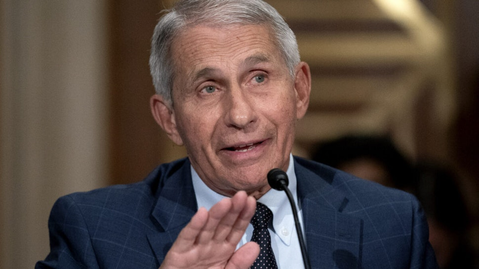 Anthony Fauci, director of the National Institute of Allergy and Infectious Diseases, speaks during a Senate Health, Education, Labor, and Pensions Committee confirmation hearing in Washington, D.C., U.S., on Tuesday, July 20, 2021.