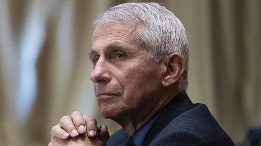 """Anthony Fauci, director of the National Institute of Allergy and Infectious Diseases, listens during a Senate Appropriations Subcommittee hearing in Washington, D.C., U.S., on Wednesday, May 26, 2021. The hearing is titled """"National Institutes of Health's FY22 Budget and the State of Medical Research."""" Photographer: Sarah Silbiger/UPI/Bloomberg"""
