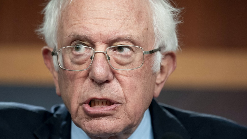 Senator Bernie Sanders, an Independent from Vermont, speaks during a news conference at the U.S. Capitol in Washington, D.C., U.S., on Wednesday, Oct. 6, 2021. Democrats and Republicans must decide in the next day or two how far to take their deadlock over the U.S. debt limit, which is pushing the country perilously close to a catastrophic default.