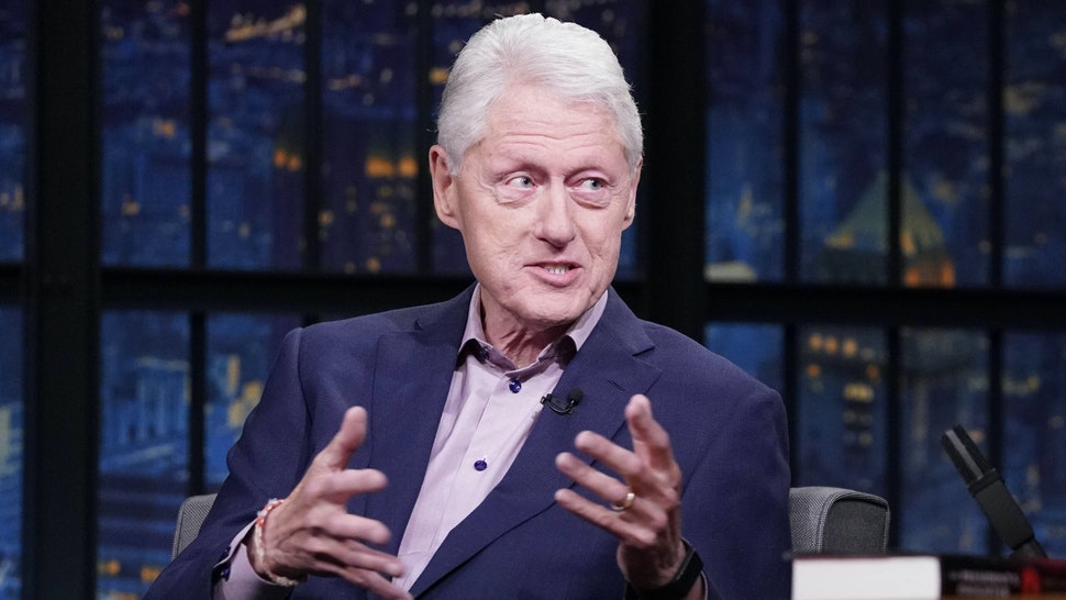 LATE NIGHT WITH SETH MEYERS -- Episode 1165A -- Pictured: Former President Bill Clinton on June 23, 2021