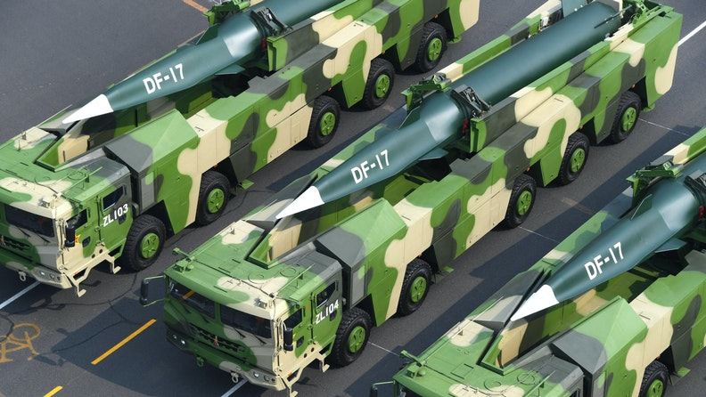 BEIJING, Oct. 1, 2019 -- A formation of Dongfeng-17 conventional missiles attends a military parade during the celebrations marking the 70th anniversary of the founding of the People's Republic of China in Beijing, capital of China, Oct. 1, 2019.
