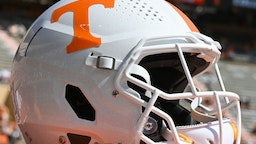KNOXVILLE, TN - SEPTEMBER 11: A Tennessee helmet during the NCAA football game between the Pittsburgh Panthers and the Tennessee Volunteers on September 11, 2021, at Neyland Stadium in Knoxville, TN. (Photo by Kevin Langley/Icon Sportswire via Getty Images)