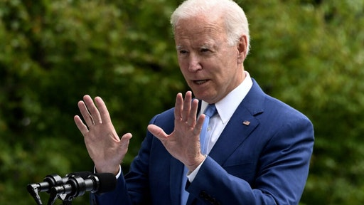 US President Joe Biden speaks after signing three proclamations restoring protections for Bears Ears, Grand Staircase-Escalante, and Northeast Canyons and Seamounts National Monuments, on the North Lawn of the White House in Washington, DC, on October 8, 2021.