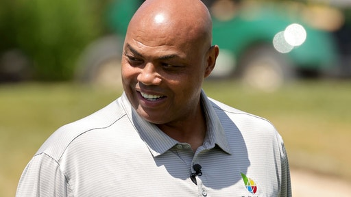 BIG SKY, MONTANA - JULY 06: Charles Barkley looks on during Capital One's The Match at The Reserve at Moonlight Basin on July 06, 2021 in Big Sky, Montana. (Photo by Stacy Revere/Getty Images for The Match)