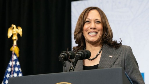 US Vice President Kamala Harris speaks about the Bipartisan Infrastructure Deal and the Build Back Better Agenda at the Edenwald YMCA on October 22, 2021 in the Bronx Borough of New York.