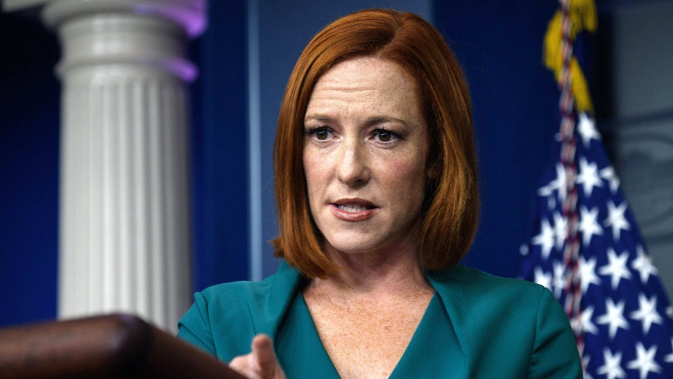 White House Press Secretary Jen Psaki speaks during the daily press briefing at the White House in Washington, DC, on October 6, 2021.