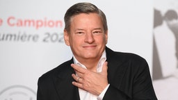 LYON, FRANCE - OCTOBER 09: Ted Sarandos attends the opening ceremony during the 13th Film Festival Lumiere In Lyon on October 09, 2021 in Lyon, France.